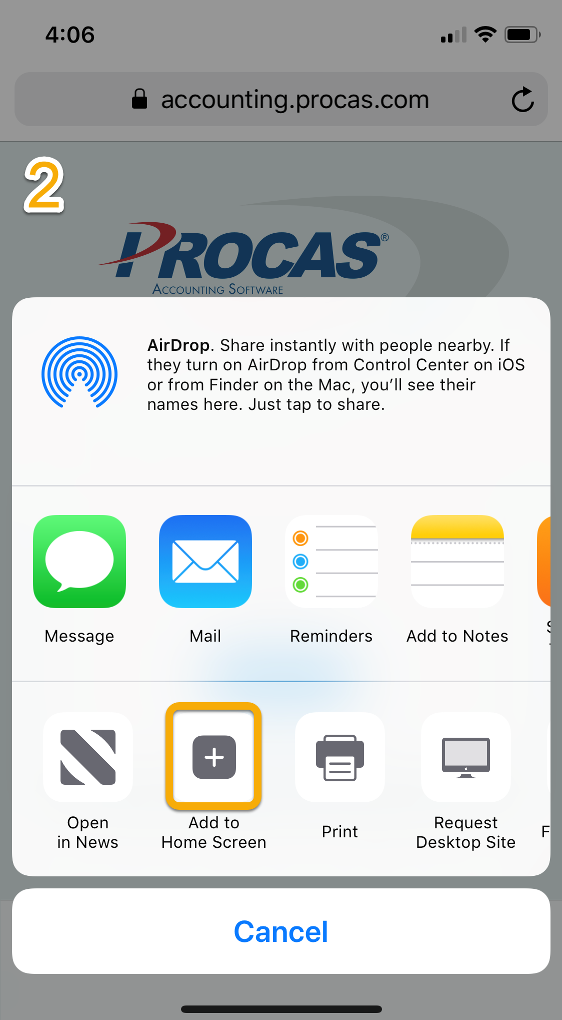 PROCAS Time on Apple iOS