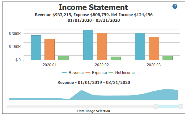 Income Statement / PnL in PROCAS Accounting Dashboard